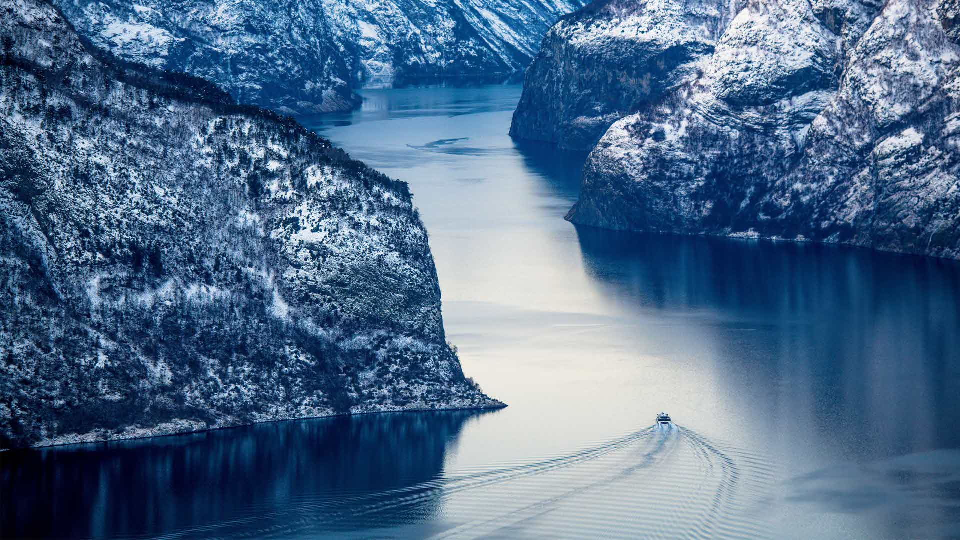 The Winter on the fjord